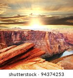 Colorado river in Utah - stock photo