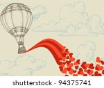 Hot Air Balloon Flying Hearts...