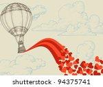 Hot Air Balloon Flying Hearts...