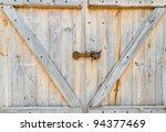 Wooden Barn Door
