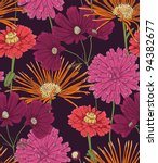 floral seamless pattern with... | Shutterstock .eps vector #94382677