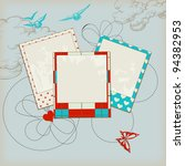 retro scrap template  sky...   Shutterstock .eps vector #94382953