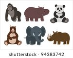 animal collection | Shutterstock .eps vector #94383742