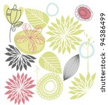 seamless floral background | Shutterstock .eps vector #94386499