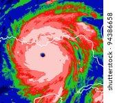 hurricane on the monitor | Shutterstock .eps vector #94386658