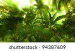 morning fog in dense tropical... | Shutterstock . vector #94387609