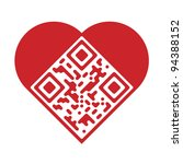 Readable Red Artistic Qr Code...
