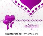abstract vector romantic... | Shutterstock .eps vector #94391344