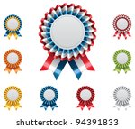 vector award badges with... | Shutterstock .eps vector #94391833