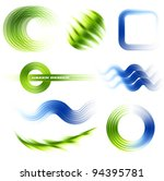 different abstract logos and... | Shutterstock .eps vector #94395781