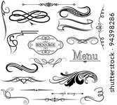 calligraphic elements | Shutterstock .eps vector #94398286