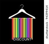 discount barcode clothes hanger ... | Shutterstock .eps vector #94399414