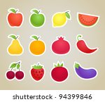 vector fruit and vegetables...
