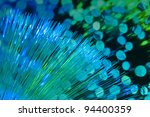 Internet technology fiber optic background - stock photo