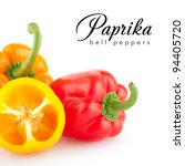 colorful paprika peppers... | Shutterstock . vector #94405720