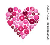 Heart Formed From Red And Pink...