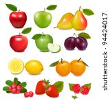 big group of different fruit.... | Shutterstock .eps vector #94424017