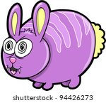 wild crazy bunny rabbit animal... | Shutterstock .eps vector #94426273