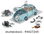 cartoon illustration of a car... | Shutterstock .eps vector #94427245