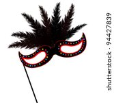 colored mardi grass mask with... | Shutterstock .eps vector #94427839