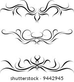 fancy ornaments  set 4  | Shutterstock .eps vector #9442945