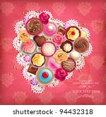 valentines background with... | Shutterstock .eps vector #94432318