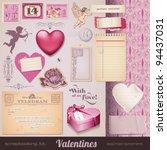 scrapbooking kit  valentines  ... | Shutterstock .eps vector #94437031