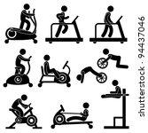 Man People Athletic Gym...