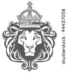 Stock vector heraldic lion head 94437058