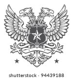 double headed eagle crest | Shutterstock .eps vector #94439188