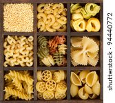 an assortment of italian pasta  ... | Shutterstock . vector #94440772