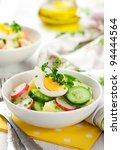 Potato Salad With Egg Radishes...