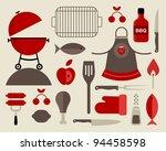 vector set of various food... | Shutterstock .eps vector #94458598