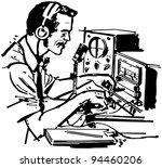 ham radio operator   retro... | Shutterstock .eps vector #94460206