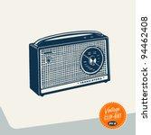 vintage clip art   radio  ... | Shutterstock .eps vector #94462408