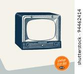 vintage clip art   television   ... | Shutterstock .eps vector #94462414