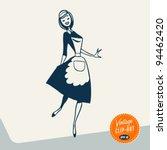 Vintage Clip Art   Happy Maid ...