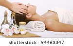 relaxing massage for young... | Shutterstock . vector #94463347
