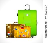 illustration of luggage with... | Shutterstock .eps vector #94463767