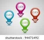 3d pointer  click here button... | Shutterstock .eps vector #94471492