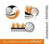 volleyball icon. vector symbol   Shutterstock .eps vector #94493581
