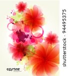 abstraction flower background | Shutterstock .eps vector #94495375