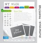 vector blog template