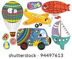 Cartoon transportation for children