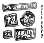 new sportswear collection...   Shutterstock .eps vector #94499635