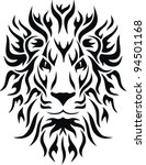 head of a lion in the form of... | Shutterstock .eps vector #94501168