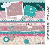 scrap template   love card | Shutterstock .eps vector #94502224