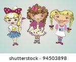 illustration vector sweet girls | Shutterstock .eps vector #94503898