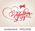 valentine card with... | Shutterstock .eps vector #94512328