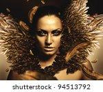 sexy brunette phoenix woman | Shutterstock . vector #94513792